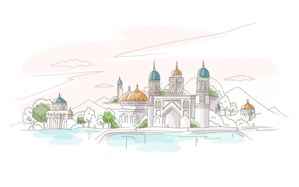 Weni.Ru - Обои HD / 3D, Графика HD - Скачать обои - Векторные, рисованные города.