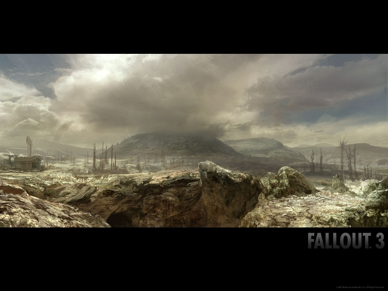 fallout 3 wallpapers. Пейзаж в Fallout 3