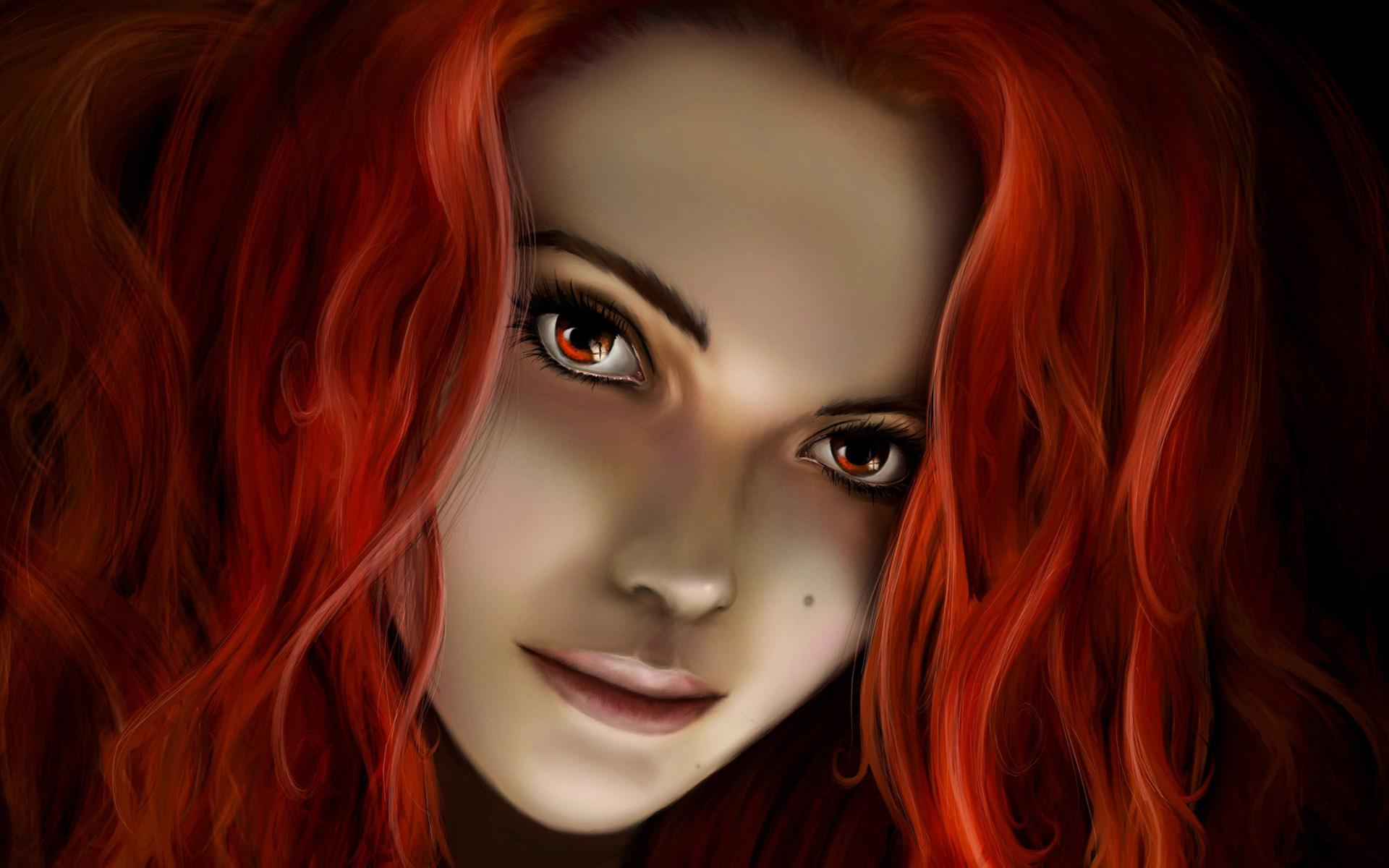Фото рыжая девушка фэнтези 19 фотография