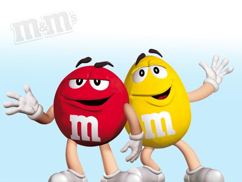 Красный и Желтый M&M's - Обои для рабочего стола